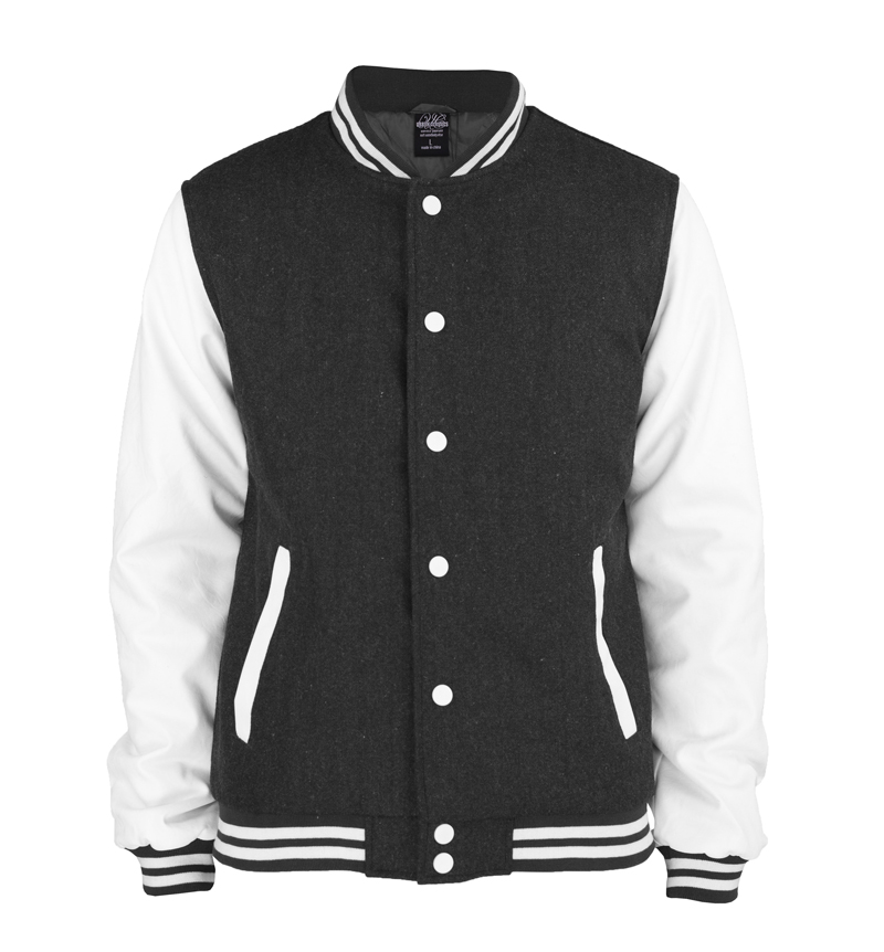 urban classics oldschool college jacke charc weiss xxxl ebay. Black Bedroom Furniture Sets. Home Design Ideas